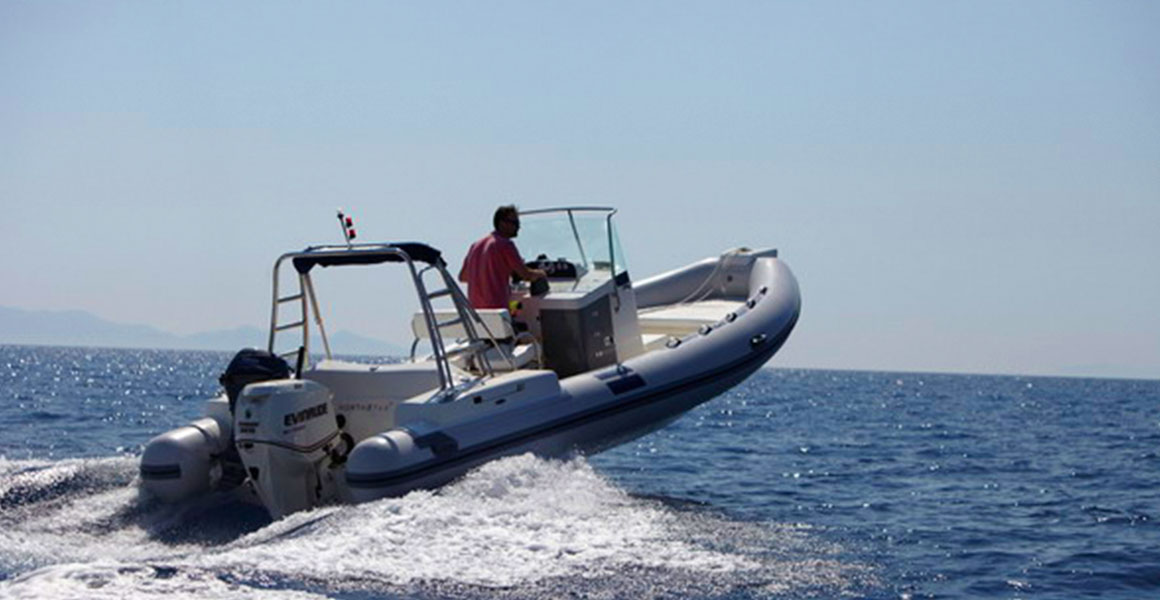 Inflatable Boats 5,5 – 11 meters | Oliaros Tours in Antiparos